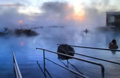 Lagoa Azul na Islândia