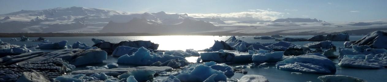 Hiking no glaciar de Myrdalsjokull, Caminhada