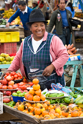 Mercado Indígena de Saquisili