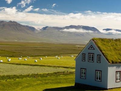 Casa típica da Islândia